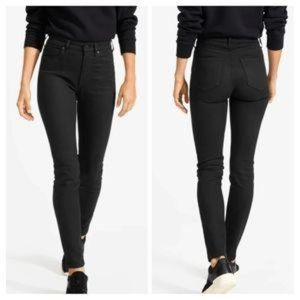 Everlane Black High Rise Skinny Ankle Jeans 25